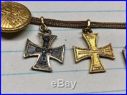 WW1 German Army Prussian Observer Miniature Chain Four medals by Godet