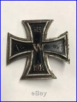 WW1 German EK1 Iron Cross VAULTED 800 Marked Army Medal Original Badge Silver