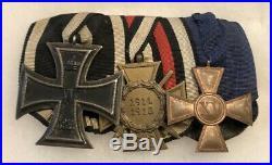 WW1 German Iron Cross Ek2 Hindenburg 15 Year Service Medal Badge Ribbon Bar WW2