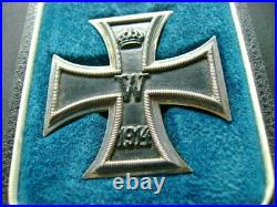 WW1 German Prussian 1914 Iron Cross 2nd Class Cased Medal Imperial Badge (2486)