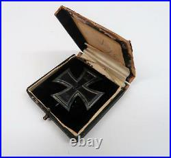 WW1 German Prussian 1914 Iron Cross boxed cased medal Imperial badge WWII Knight