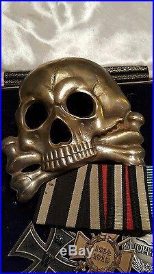 Ww1 Imperial German Iron Cross Prussian Hussars Totenkopf Medal Group Ek1 Ek2