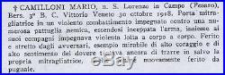 Ww1 Italian Silver Valore Militare Medal To A Bersaglieri Machine Gunner