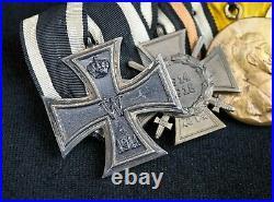 WW1 Imperial German pin cross badge medal uniform WW2 Vet iron parade ribbon bar