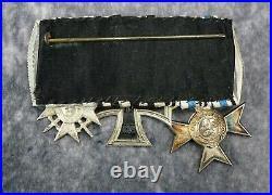 WW1 Imperial German pin iron cross badge medal uniform WW2 parade ribbon mount