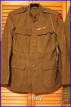 WW1 Infrantry Uniform 106 Unit g, WithPatches & Medal, Bundle Lot-Collectible