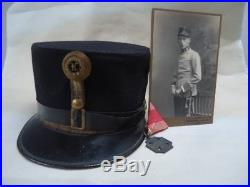 WW1 KuK Austro-Habsburg Army Officers Cap circa 1917. Includes photo and medal