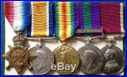 WW1 MEDAL GROUP WITH GSM IRAQ & LS&GC, SQ. QM. SJT. ELLIS. 7th DRAGOON GUARDS