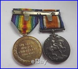 Ww1 Medal Pair Royal Irish Fusiliers 8