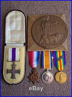 Ww1 Military Cross Killed In Action Casualty Medal Group