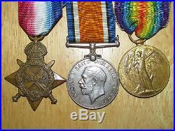 WW1 Medal Group 1914-1915 Star Trio 5th Canadian Infantry Western Cavalry