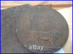 WW1 Medal Trio & Plaque Church Lads C339 Smedley Heanor 16th K. R. RIF. C. Low