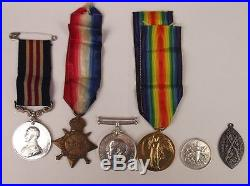 WW1 Military Medal & 1914/15 Star Trio Pte. F. Valder 4th London RAMC