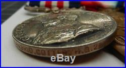 WW1 Military medal group of 6 COTTER. RGA, RA