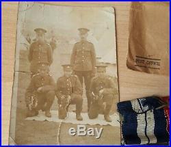 WW1 Royal Navy Medals & Ephemera WW1 Trio & R. N Long Service Medal H. M. S Valiant
