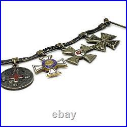 WW1 Set Of 8 German Enamel Silver Order-Medals. Mini