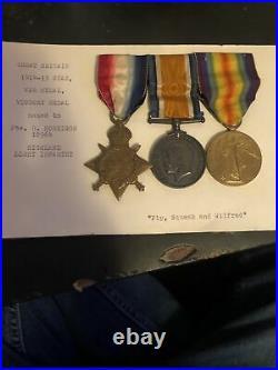 WW1 Star, War & Victory Medals High Lieut MARKED PTE R. MORRISON