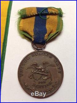 Ww1 Usn U. S. Navy 1911 1917 Mexico Service Medal George R Litton
