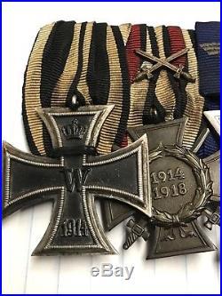 WW1 WW2 German EK2 Iron Cross Police Service Army Medal Bar Badge