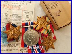 WW1 + WW2 Mercantile Marine + Sons Torpedo Badge + Medals Petts