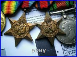 WW1 WW2 medal group Sgt J Gibbons Artists Rifles & Badge & Special Constabulary