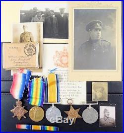 Ww1 & Wwii Medals 64506 Pte G Ironside Ramc/re Kia Ss Mohamed Ali El Kerbir