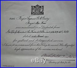 WW2 1940 Saro Lerwick RAF accidentally killed medal group Flight Sergeant Corby