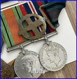 WW2 8th Army Africa Star Italy France & Germany Greek Medal Group 100% Original
