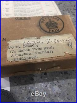 WW2 AIR CREW EUROPE GROUPING RAF MEDALS TO P/O H DAWSON Caterpillar Badge