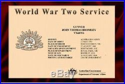 WW2 AUSTRALIAN PACIFIC KOKODA 5 MEDAL GROUP ANZAC BROMLEY Victoria Artillery