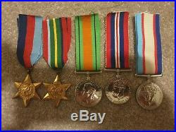 WW2 AUSTRALIAN PACIFIC KOKODA 5 MEDAL GROUP ANZAC DULLARD Western Australia