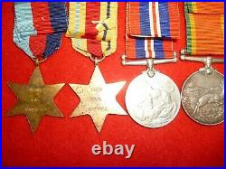 WW2 Africa Star, 8th Army Medal Group of (4) to Campbell with Dog Tags Research