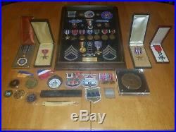 WW2 Battle Of The Bulge Named Medal Grouping Army Air Corp/Army 80th division