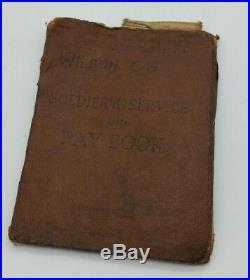 WW2 British Army Desert Rat C. Wilson Medal Service Book Christmas Card Etc