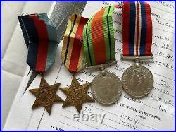 WW2 British Royal Engineers Tobruk POW Medals North Africa & His German Dog Tag