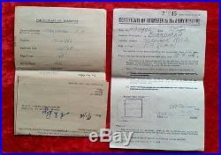 WW2 British Royal Navy Medals Frederick Boardman Hairdresser + Documents Etc