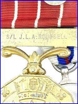 WW2 Canadian RCAF Spitfire Pilot DFC OMM CD with 2 Bars Medal Group JLA Roussell