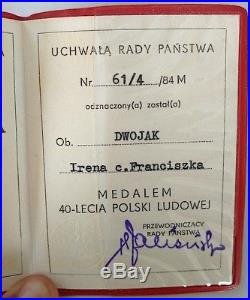WW2 GERMAN HOLOCAUST CONCENTRATION CAMP AUSCHWITZ BIRKENAU CASE MEDAL + ID kl kz