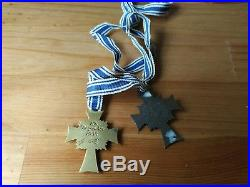WW2 German medals 2 x mother medals gold and bronze