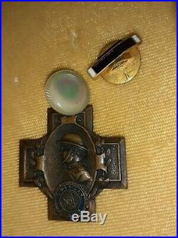 WW2 Grouping W. I. A African American Soldier 369th Infantry Medals Antique U. S