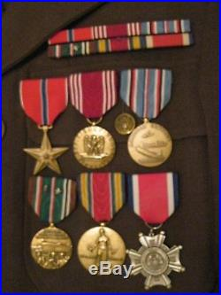 WW2 ID'd 157th Regiment, 45th Division Uniform & Medal Grouping