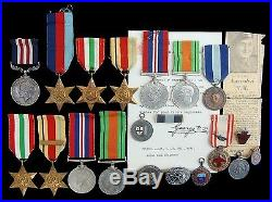 Ww2 Military Medal Group Of 6 1939-1945, Italy, Africa, Defence, War Tank Regiment