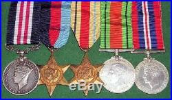 WW2 MILITARY MEDAL MM GROUP, GNR PEAKER, 172nd FIELD REGT R. ARTILLERY, FROM LEEDS