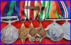 WW2 & Malaya British Army medal group of 8 to Captain Norton. R. A. M. C