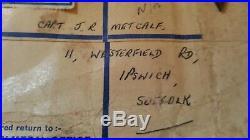 WW2 Medal Group Captain/Major J. R Metcalf Royal Artillery. Ipswich, Suffolk