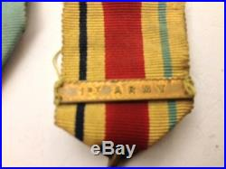 WW2 Medal Group With Territorial Medal & Scarce Operation Torch Badge