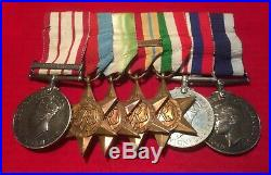 WW2 Medals ROYAL NAVY NGS LSGC STARS UPDATE LATER