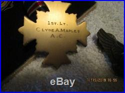 WW2 Named DFC Bombardier Sterling wings medals Canadian ribbons Grouping B-17 BG