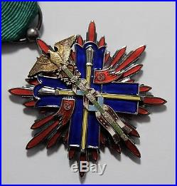 WW2 ORDER of GOLDEN KITE STERLING SILVER 5th CLASS JAPAN MEDAL JAPANESE BADGE