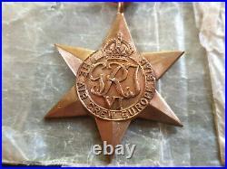 WW2 Original & Genuine Air Crew Europe Star Medal Group of Four